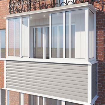 отделка балкона фасадным сайдингом пример
