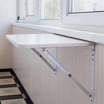 откидной столик на балкон и лоджию пример работы