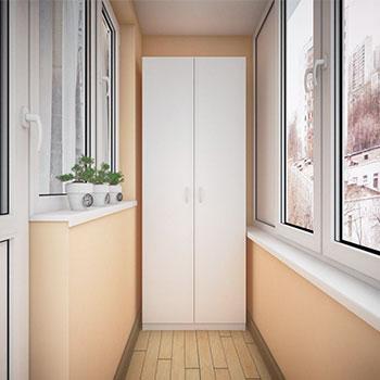шкаф на балконе пример работы