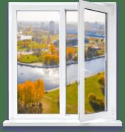 Цены на популярные модели окон двухстворчатое окно