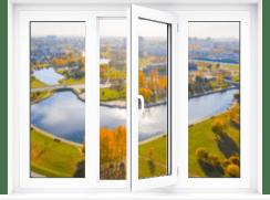 Цены на популярные модели окон трехстворчатое окно