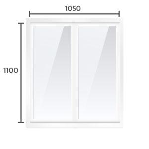 Балконная рама Алюминий  1100x1050