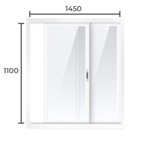 Балконная рама Алюминий  1100x1450