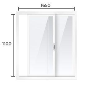 Балконная рама Алюминий  1100x1650