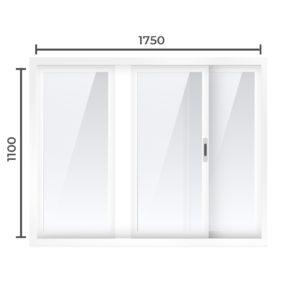 Балконная рама Алюминий  1100x1750
